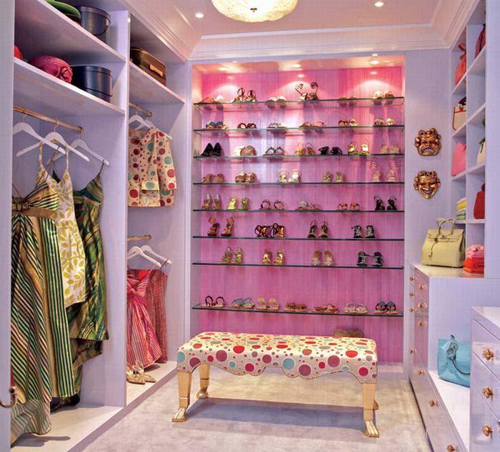 дизайн гардеробной комнаты фото