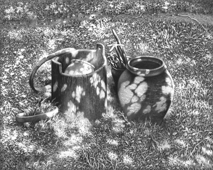 рисунки карандашом Гурам Доленджашвили - 11