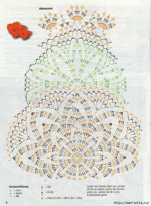 Круглые салфетки крючком. Схемы (14) (511x699, 277Kb)