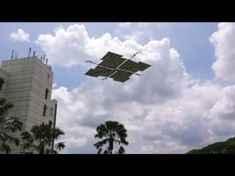 Первый азиатский коптер со 100% солнечным питанием