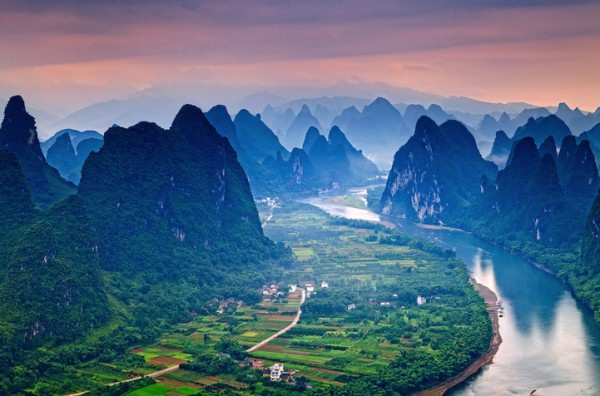 Река Ли, провинция Гуанси, Китай красивые, реки