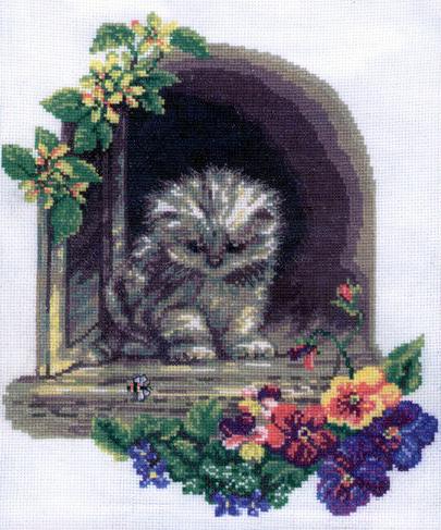 Вышивка «Котенок»