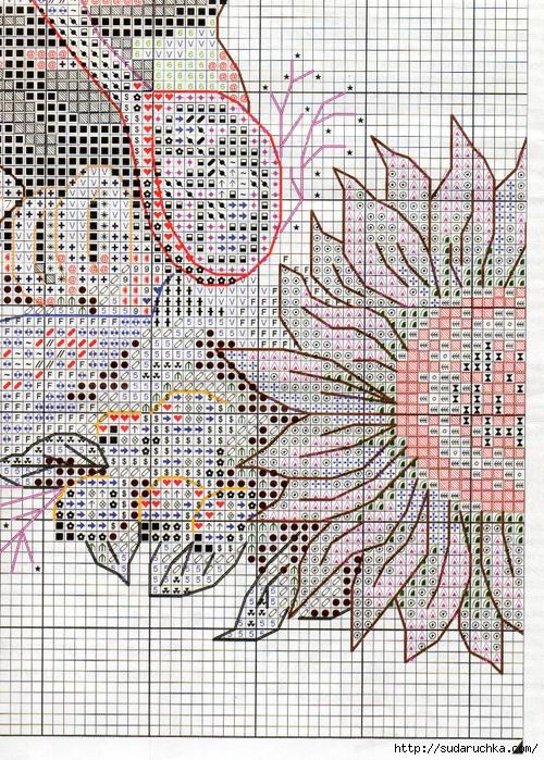 Схема вышивки венок изобилия 28