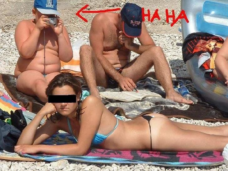 4. Она и не думает прятать свои прелести курьез, пляж
