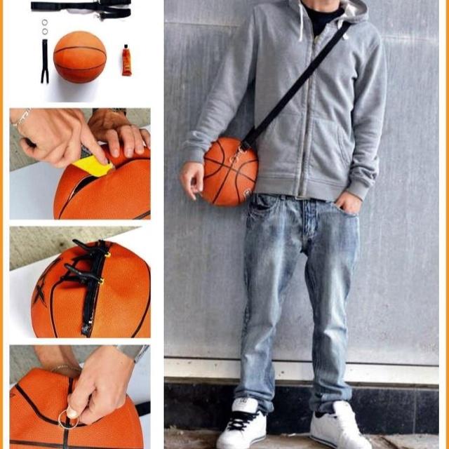 DIY basketball bag ^^ try it on