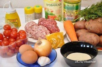 Восхитительная картофельная запеканка с мясными фрикадельками