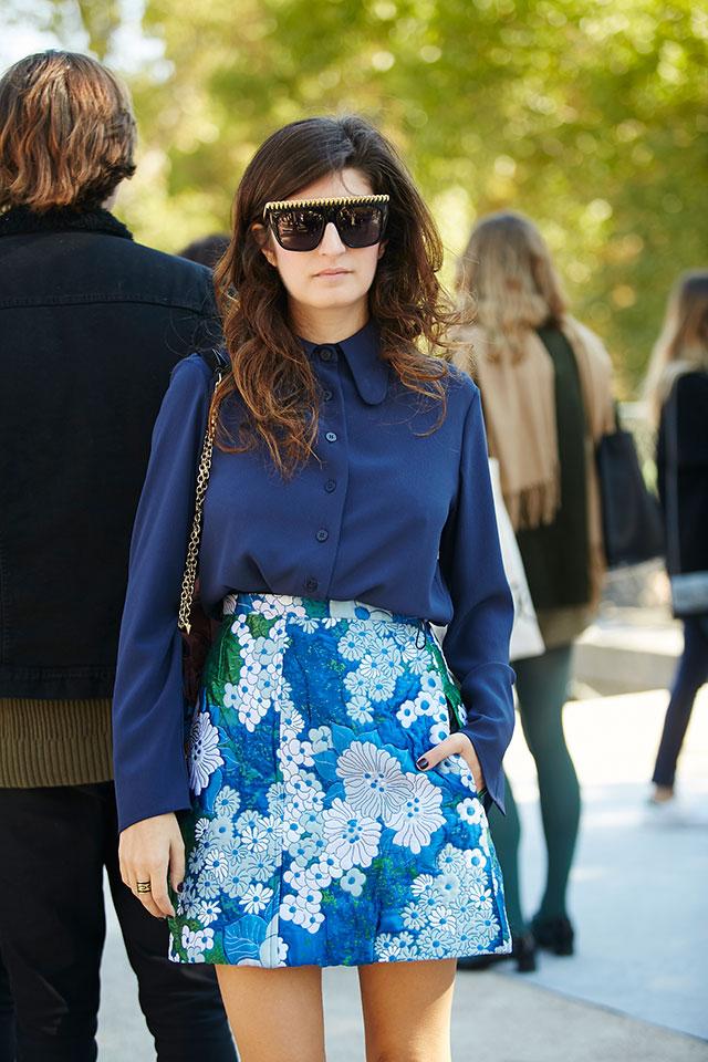 Неделя моды в Париже, весна-лето 2016: street style. Часть 1 (фото 14)