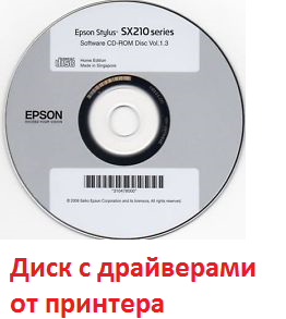 диск с драйвером от принтера