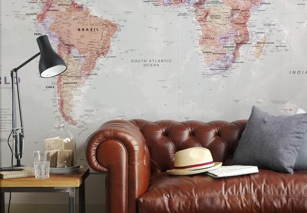 Мебель и предметы интерьера в цветах: серый, темно-коричневый, коричневый, бежевый. Мебель и предметы интерьера в .