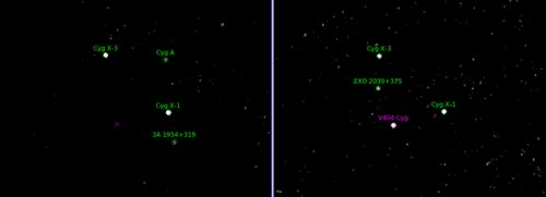 Вспышки в системе V404 Cygni