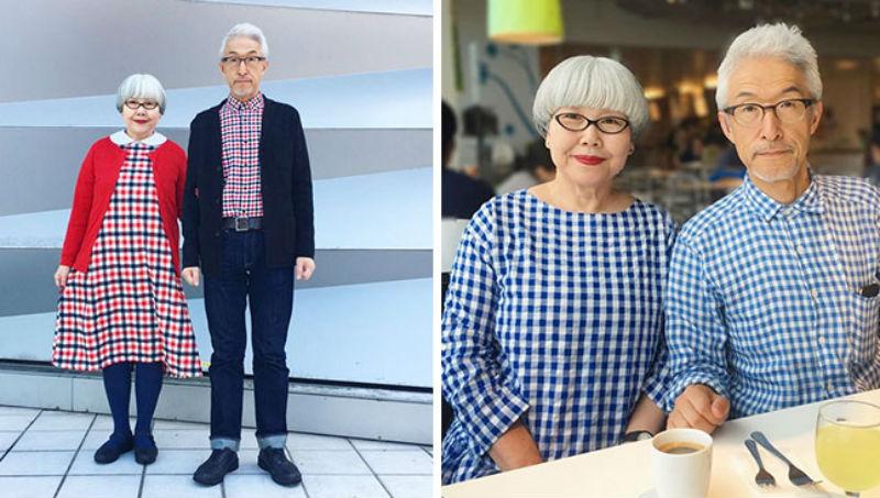 Супружеская пара из Японии уже 38 лет одевается в одинаковом стиле