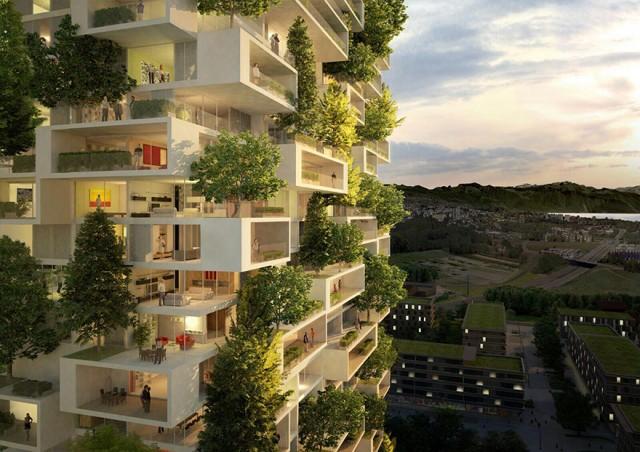 Вечнозеленое здание в Швейцарии