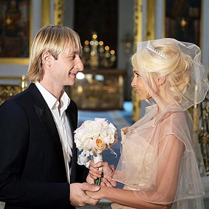 Яна Рудковская и Евгений Плющенко обвенчались через 8 лет брака