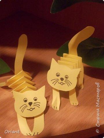 Поделки из бумаги котенок гармошка