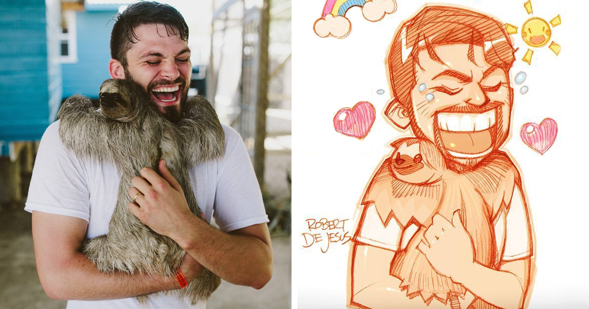 Illustrator Turns People And Their Pets Into Cartoon Characters (New Pics)