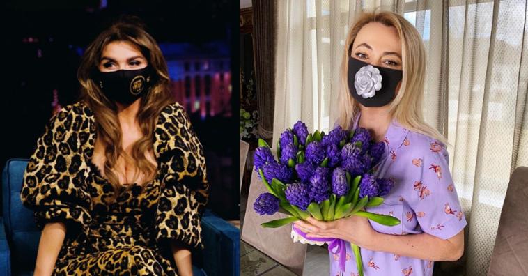 Российские знаменитости в дизайнерских масках от коронавируса