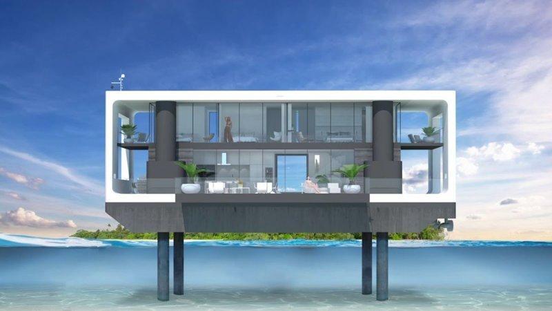 Дом из яхты-амфибии будущее, дом, прогноз