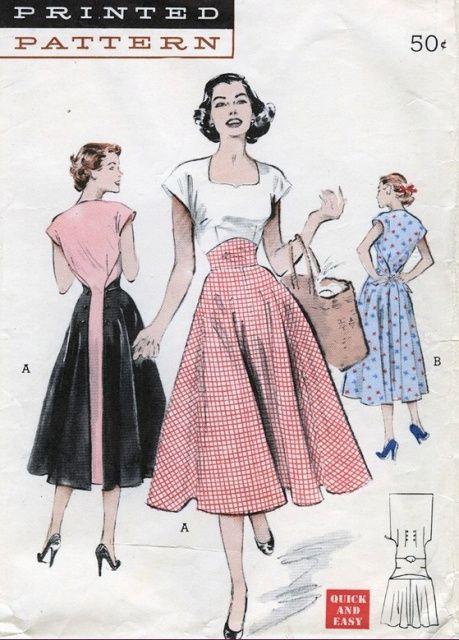 Модель платья 50 60 годов