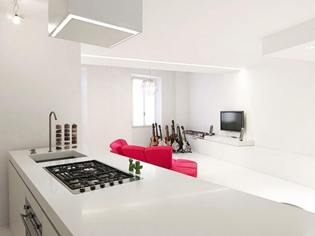 Minimalist Kitchen Design For Small Space 1024x768 Дизайн фасадов кухонных шкафов 60 фото