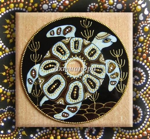 Картина, панно, рисунок Роспись: Золотые мелодии витражных CD дисков Диски компьютерные, Краска День рождения. Фото 1