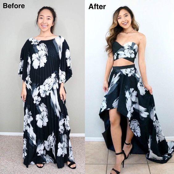 Переделки одежды До и После
