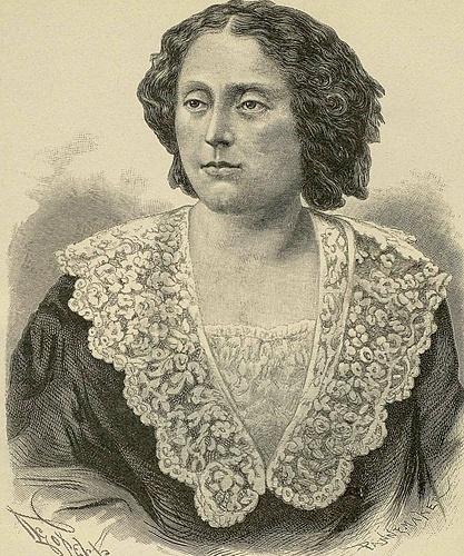 Гравюра с фотографии Нины Чавчавадзе, сделанной в год ее смерти