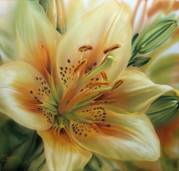 Роспись на шелке: восхитительные работы Елены Тенер
