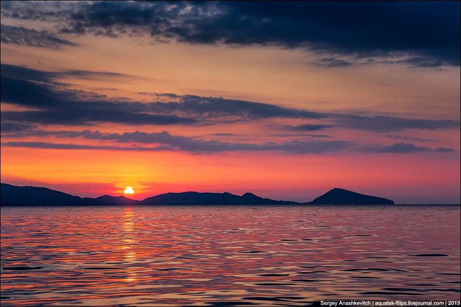 Рассвет над Киик-Атлама крым, отдых, природа
