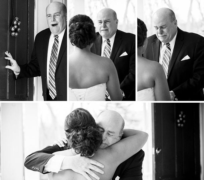 Как реагируют отцы, когда видят своих дочерей в свадебных платьях