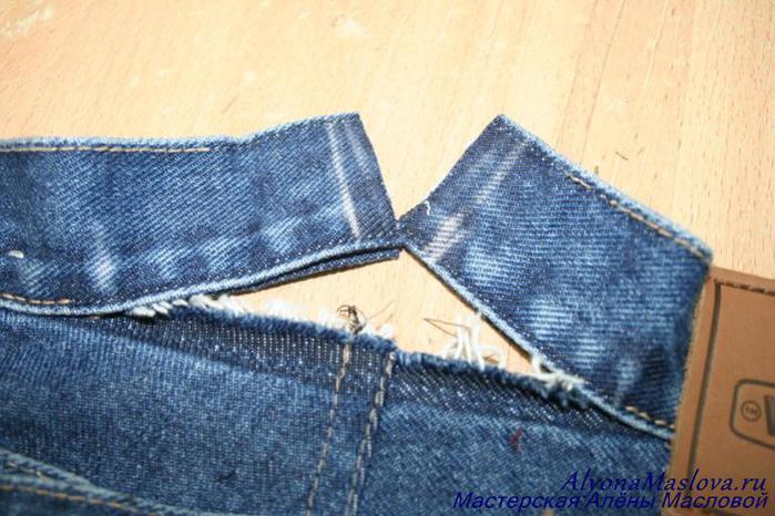 Ушить джинсовую юбку в поясе