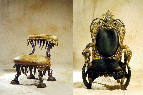 Коллекция дьявольской мебели от Мишеля Аяра