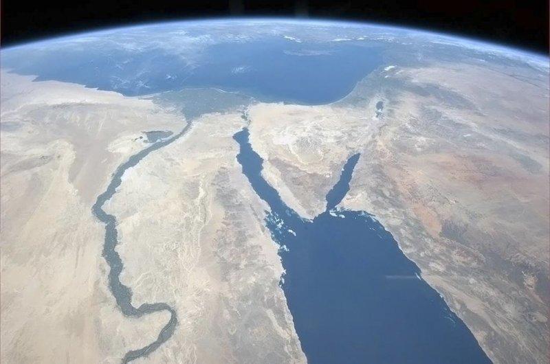 Нил и Синайский полуостров земля, космос, красота, природа, фото