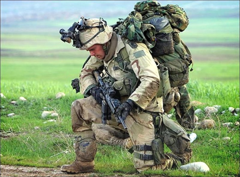 Нагрузка на пехотинца США