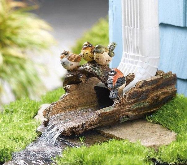 Оригинальные идеи декорирования отмета водостока!
