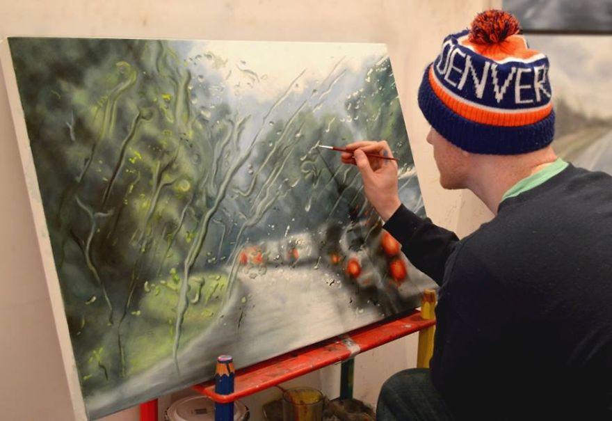 Как художник рисует картины фото