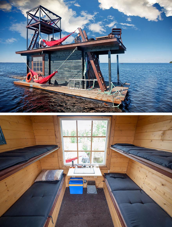 18. Домик на воде в Финляндии вместительность, дом, размер