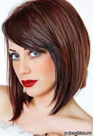 стрижка фото на средние волосы