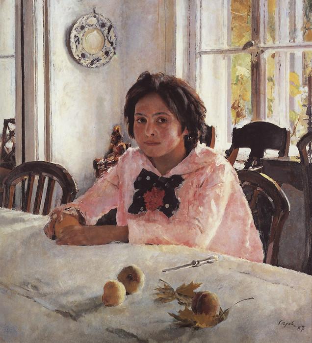 «Девочка с персиками» девушки, живопись, история, картины, портреты