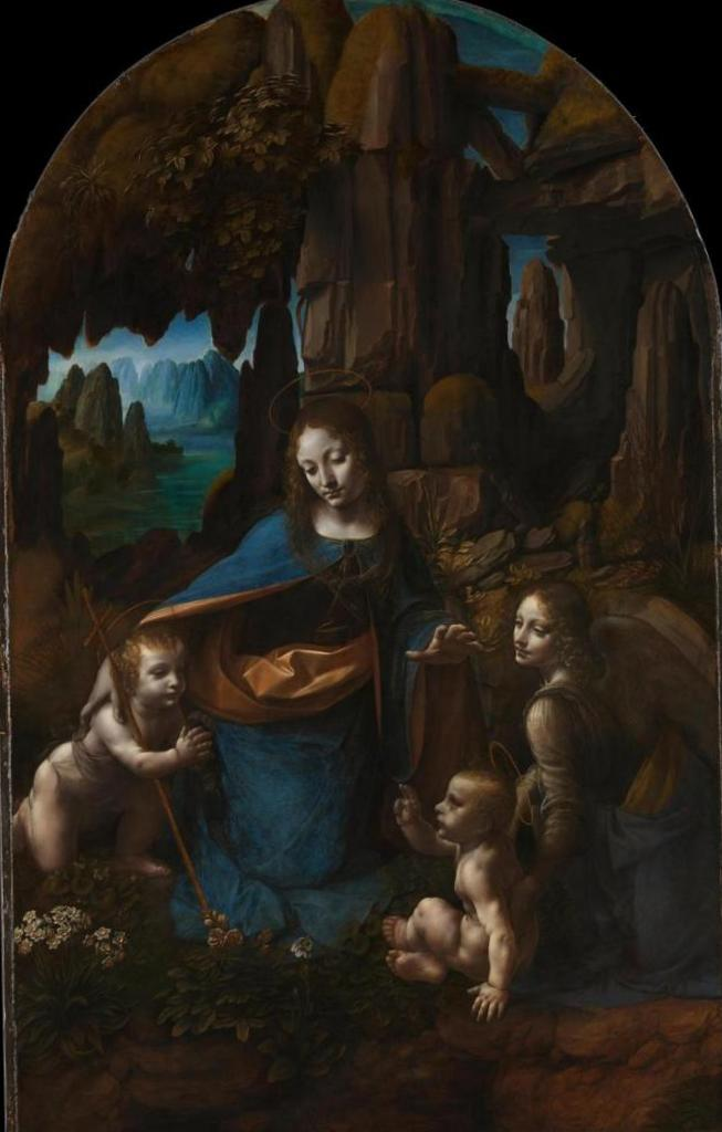 Матерь Божья среди скал - Леонардо да Винчи (1505)