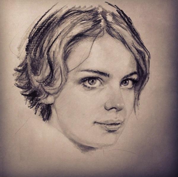 Рисунки карандашом. Алла Дзюрич (57 фото)