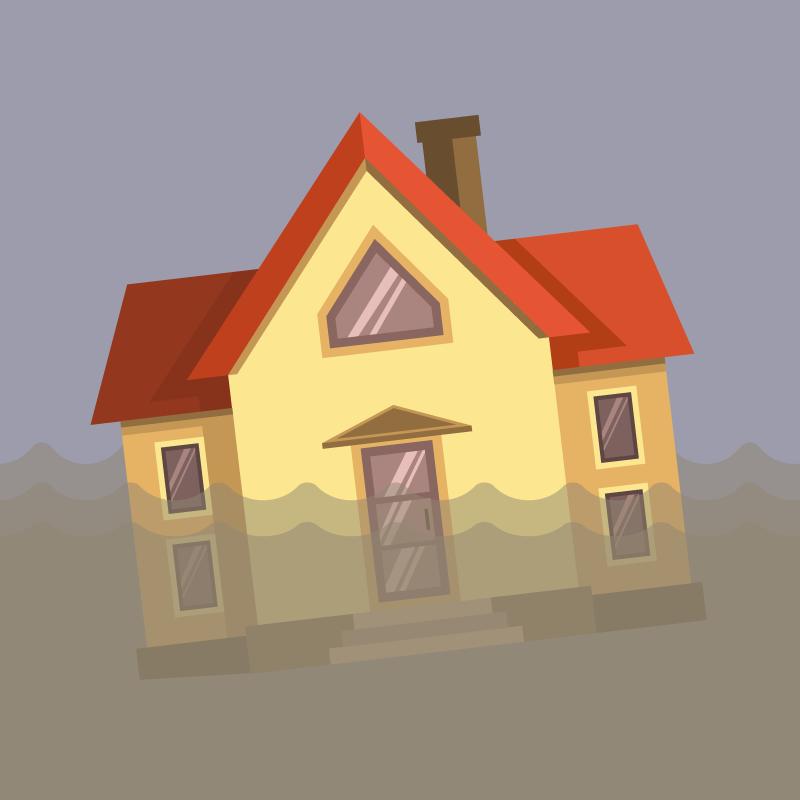 Анекдот про старика Рабиновича, оказавшегося вцентре наводнения