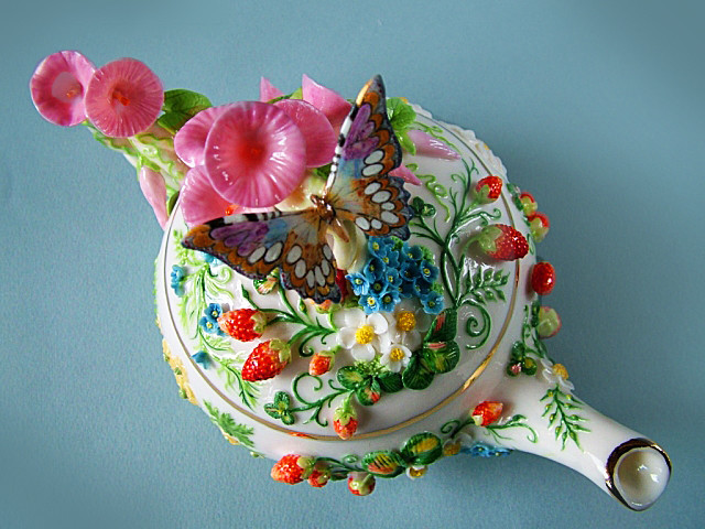 Фарфоровый сад Светланы Орешкиной своими руками, сделай сам, фарфор