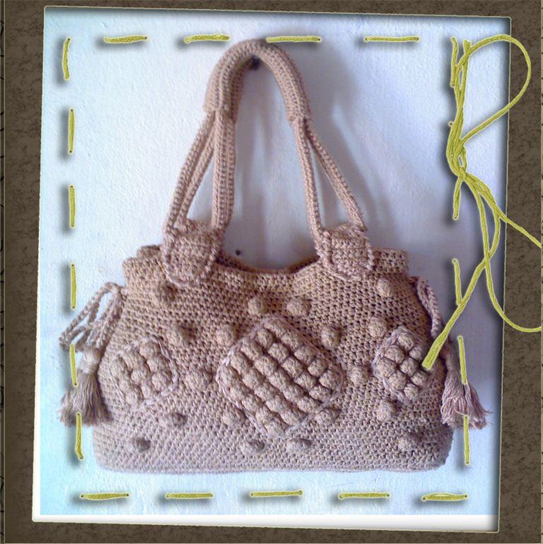 Вязание крючком в фото сумки 557