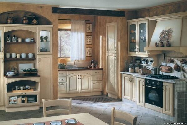Кухня в стиле прованс в современной квартире