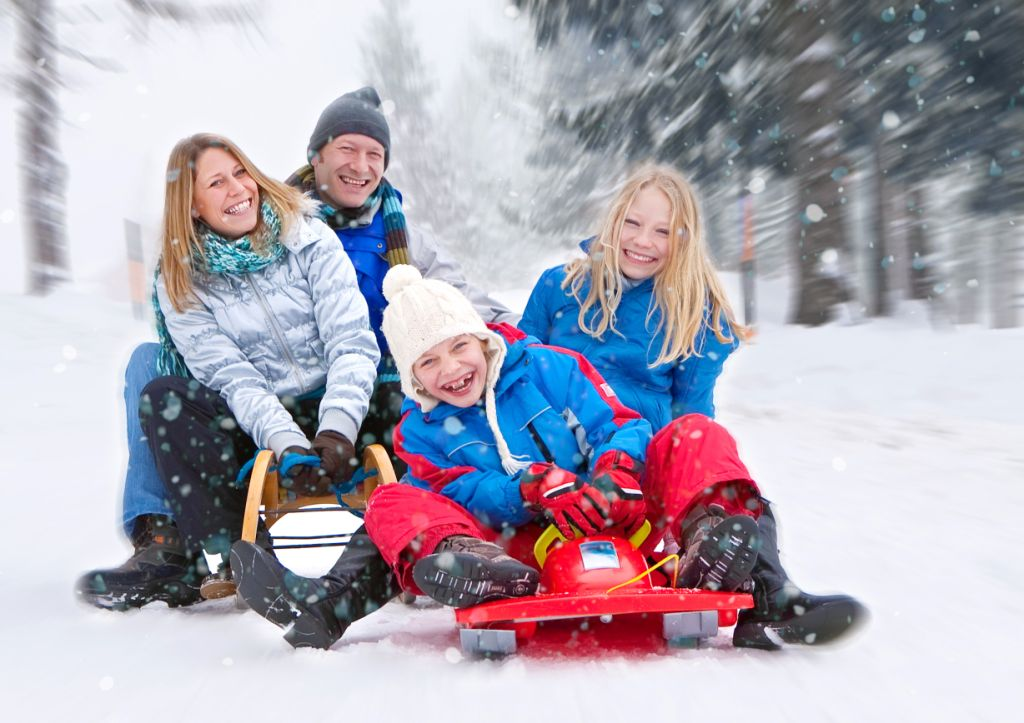 Отдых зимой для ребенка фото