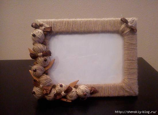Рамка для своими руками из шпагата
