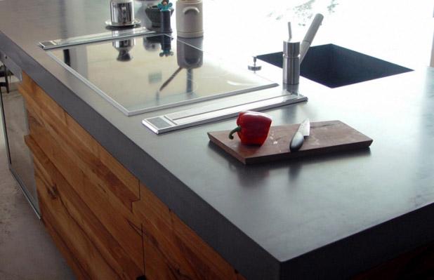 Кухонные столешницы из бетона
