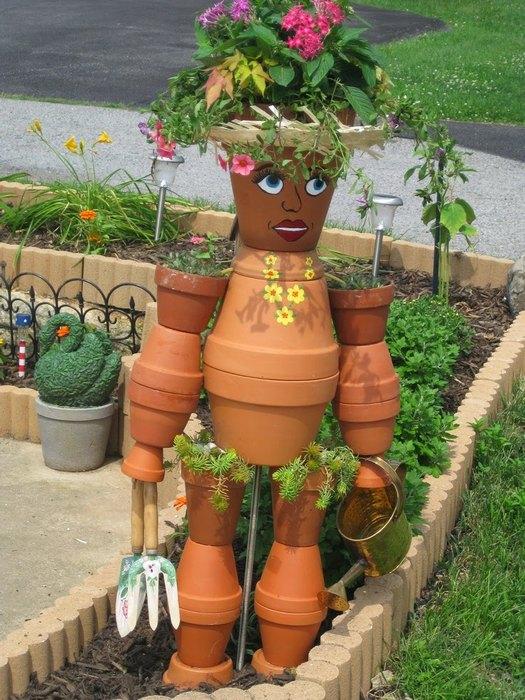 Поделки для сада и огорода из фото