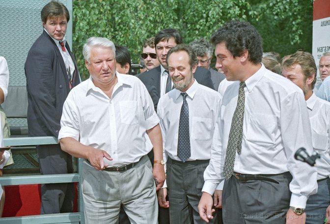 Борис Ельцин и Борис Немцов: видео