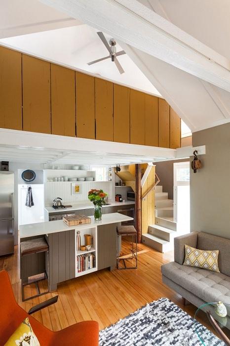 Маленький, но функциональный домик площадью 35 кв. метров.